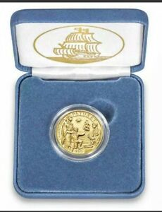 2020 Mayflower 400th Anniversary Fine GOLD Reverse Proof Coin $10 Commemorative