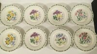 "(8) Thomson Pottery FLORAL GARDEN 7 3/8"" Salad Plates"