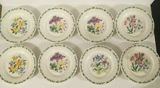 "(8) Thomson Pottery FLORAL GARDEN 7 3/8"" Salad Plates"