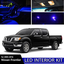 5PCS Blue Interior LED Light 2005 - 2016 Nissan Frontier White for License Plate