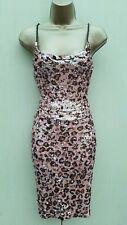 KAREN MILLEN UK 10 Pink Sequin Top & Skirt 2 Piece Outfit Dress New Years Party