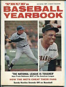 True's baseball Yearbook 1967-Al Kaline-Willie Mays-Sandy Koufax-pix-Info-VF