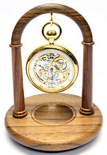 English Walnut Pocket Watch Stand, Handmade in England A27w (Watch not included)