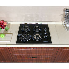 24'' Built-in 4 Burner Gas Cooktop Stove Cook Top with Tempered Glass