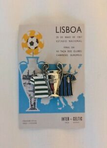Celtic FC European Cup 1967 enamel pin badge Libson Lion Bhoys Glasgow