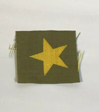 Japanese Uniform Collar Tab Yellow Star Rank Cap Hat Emblem Patch Bevo Insignia