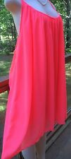 WOMENS PLUS DRESS 1X NWT XL 14 16 CORAL NEW CUTE SUMMER DEAL
