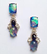 ANTHROPOLOGIE BEAUTIFUL OPAL BLUE GREEN DROP EARRINGS - NEW