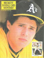 Beckett Baseball Card Monthly Magazine October 1990 #67 Jose Canseco Oakland A's