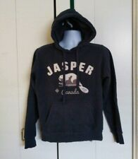 "Canada Hoodie Sweatshirt Mens Size S Navy Blue Embroidered ""JASPER"" Pullover"