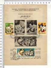 "13740) Romania 20.3.1965 FDC Folder Cats - Cats "" Pisici'"