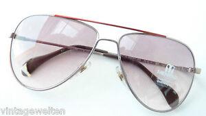 Menrad Vintage-Sonnenbrille unisex Verlauftönung große Pilotform oldschool Gr. L
