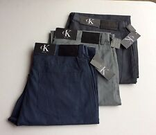 Calvin Klein Men's Lifestyle Logo Patch Chino Pants Multiple Sizes and Colors
