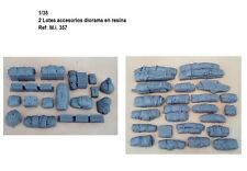 WWII 1/35 resina 42 piezas value gear estiba set accesories cajas mantas mochila