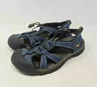 KEEN Womens Sport Sandals Blue Adjustable Lace Up Bungee Water Hiking 11 M