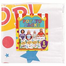 POTATO RACE SACKS CIRCUS CARNIVAL PARTY SUPPLIES GAME ACTIVITY (PACK OF 6)