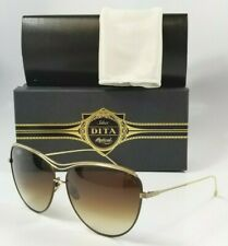 791c4b569bec DITA Starling 21008 Brown Gold Gradient Titanium Cat Eye Sunglasses