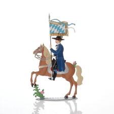 Rider with flag, made of pewter - Wilhelm Schweizer -