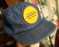 NEW True Vtg Denim Hat Cap Snap Back WRAY COLORADO AVIATION Patch Logo Farmer