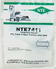 NTE NTE7411 Integrated Circuit TTL − Triple 3 − Input Positive AND Gate
