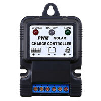 US 6V 12V 10A Auto Solar Panel Charge Controller Battery Charger Regulator PWM