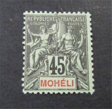 nystamps French Moheli Stamp # 11 Mint OG H $80  U18y3216