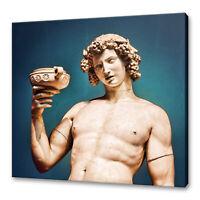 DIONYSOS DIONYSUS BACCHUS ROMAN GOD OF WINE BOX CANVAS PRINT WALL ART PICTURE