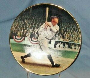 """Babe Ruth 8"""" Delphi Collector's Plate Baseball Legends Lot B"""