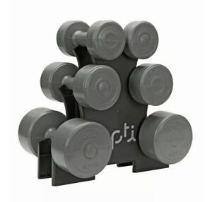 Opti Dumbbell Tree Set Vinyl 15KG Home Workout Home Gym Fast Delivery 💪💪🚚