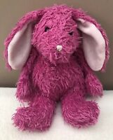 Jellycat Small Bunglie Bright Pink Bunny Rabbit Soft Toy Comforter Curly Fur