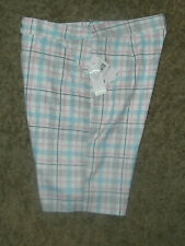 Callaway Golf -Women's Plaid Shorts !   Size  : 6 ,White, Pink & Blue