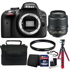 Nikon D3300 24.2MP CMOS Digital SLR Camera with 18-55mm Lens + Top Accessories