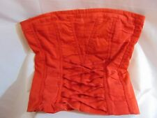 BEBE Red Corset Halter Lined Top, by Bebe, Size Small