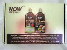 Wow Skin Science Apple Cider Organic Shampoo Conditioner Avocado Coconut 16.9oz