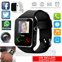 A1 Waterproof Smart Watch bluetooth GSM SIM Phone Camera For Android/iOS