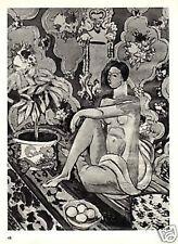 HENRI MATISSE LITHOGRAPH. 1935 PRINT w/COA. Unique Gift or Present VERY RARE ART