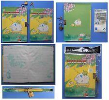 Diario Segreto vintage Red Girl con lucchetto cartoni animati orsetto