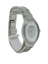 Bulova Diamonds 96R193 Women's White Oval Stainless Steel Analog Watch