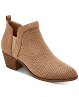 Style & Co. Womens Myrrah Almond Toe Ankle Fashion Boots, Taupe, Size  8144