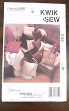 NEW KWIK SEW PATTERN UNOPENED SQUARE,OBLONG & ROUND PILLOWS  BOLSTER THROW #2486