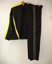 BOLLE SPORT Women's Athletic Wear Black Yellow Track Sweat Suit L Train Run
