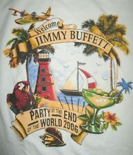 """2006 Jimmy Buffett """"Party At The End Of The World"""" Concert Tour (Lg) T-Shirt"""