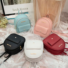 Mini Backpack Women PU Leather Shoulder Bag Girls Multi-Function Small Bagpack