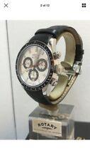 Rotary Men's LES ORIGINALS Sapphire Chronograph B.Leather Strap Watch GS90151/08