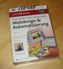 Photoshop-PowerWorkshops: Webdesign & Automatisierung | Video-Training DVD - neu