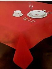 Beautiful Cotton Blend Tablecloths,RED, 60 X 100 Oblong, Harbox5,16