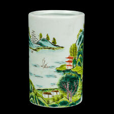 Cina 20. JH. pennello Pentola-a Chinese famille verte brush pot-chinois cinese