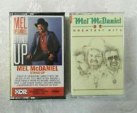 2 Mel McDaniel Cassette Tapes Greatest Hits Stand Up