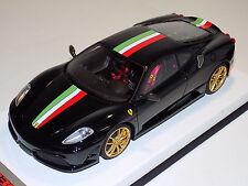 1/18 Looksmart MR Ferrari F430 Scuderia Nero DS 1250 Italian Stripe Gold Wheels