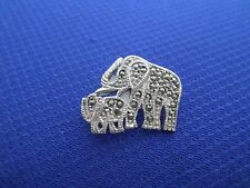 Mother Elephant and Child Broche in solid 925 sterling silver